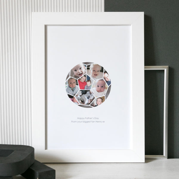 Personalised Football Fan Photo Collage Print
