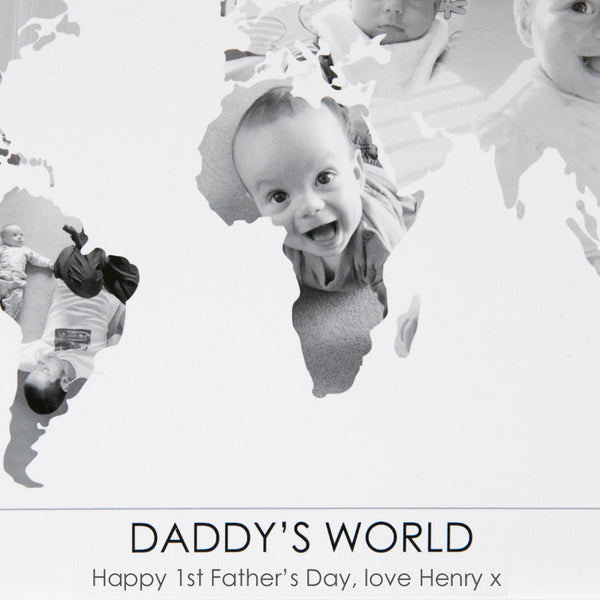 Personalised 'Daddy's World' Photograph Map