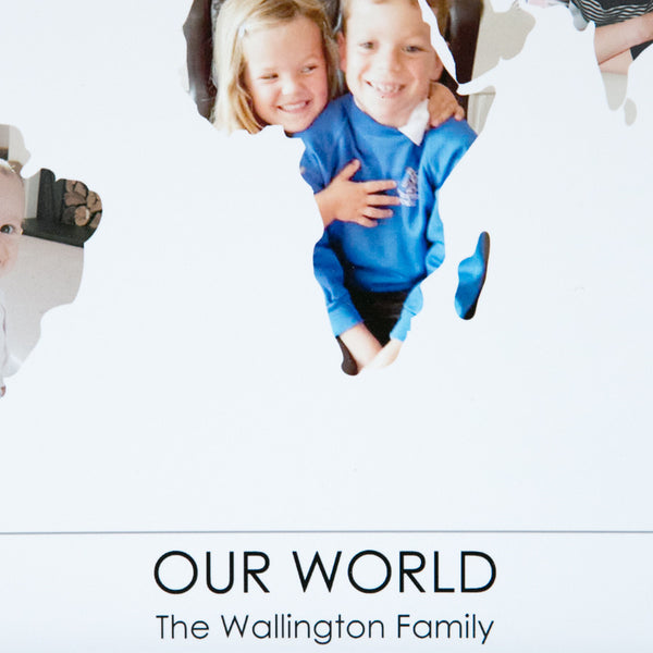 Personalised 'Our World' Photo Map