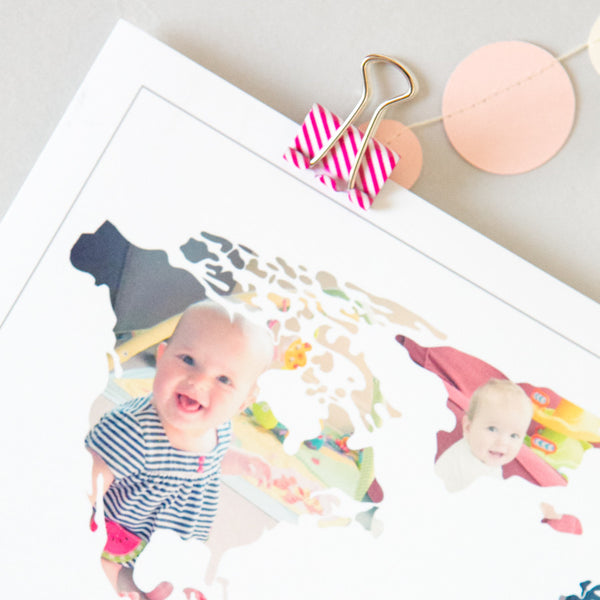Personalised 'Mummy's World' Photograph Map