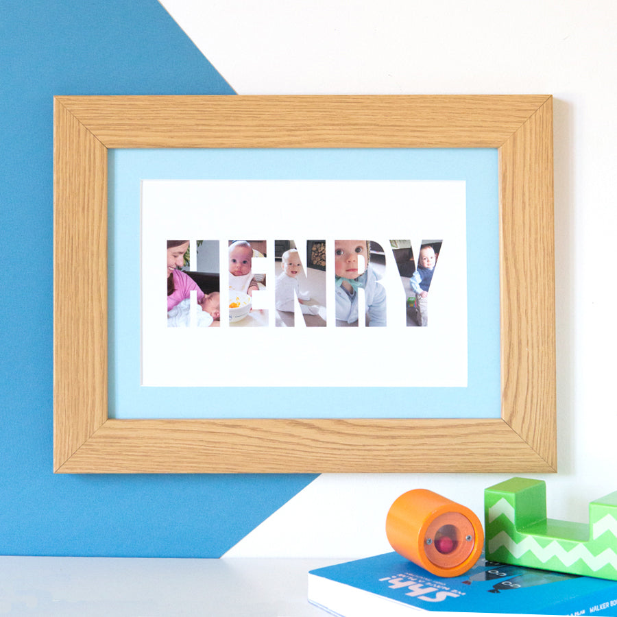Personalised Boy's Name Photo Gift Print