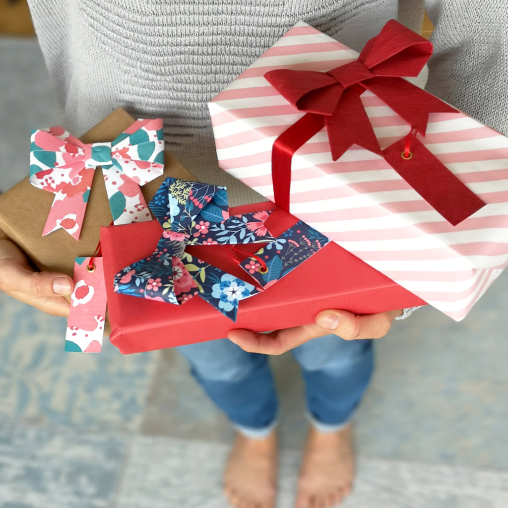 Origami Bow Gift Wrap Set