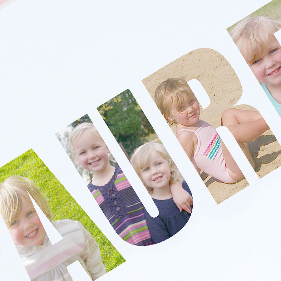 Personalised Girl's Name Photo Gift Print