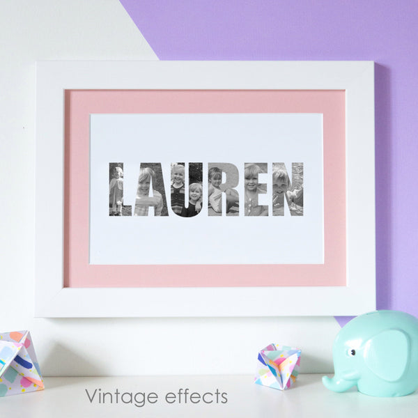 Personalised Girl's Name Photograph Print