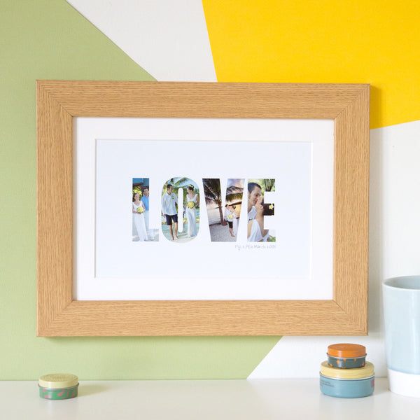 Personalised 'Love' Photograph Print