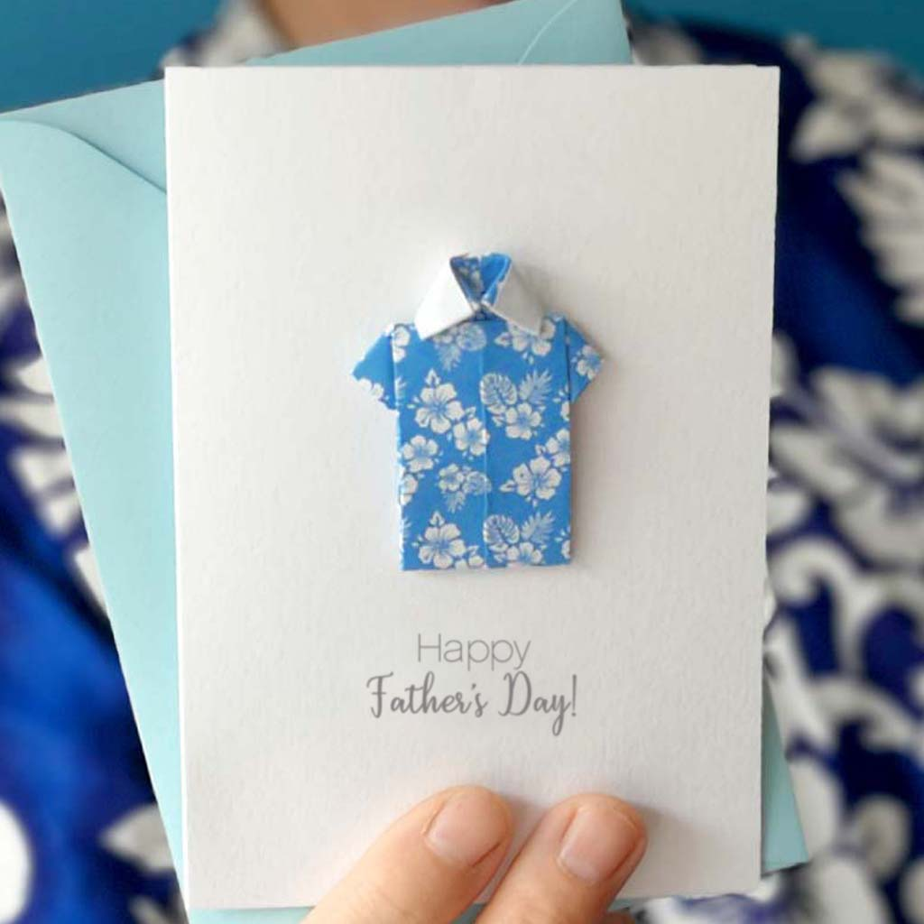 Father's Day Origami Hawaiian Shirt Card