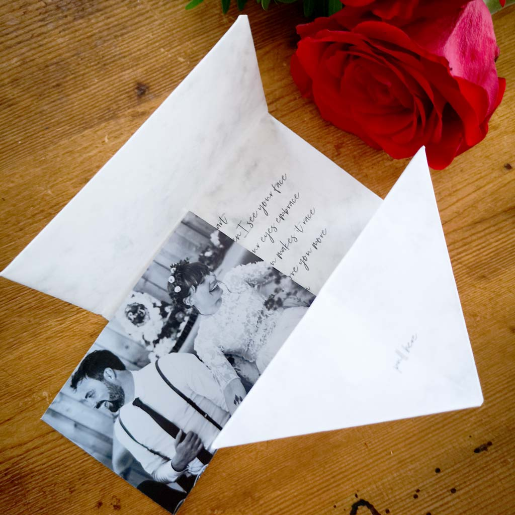 Personalised Origami Valentine Love Letter Photo Gift