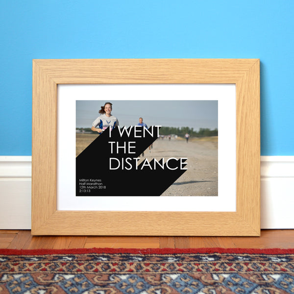 Personalised marathon photo collage print