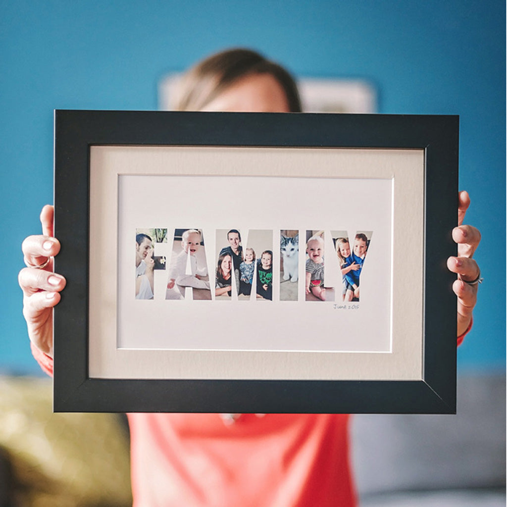 Personalised Family Photo Gift Print