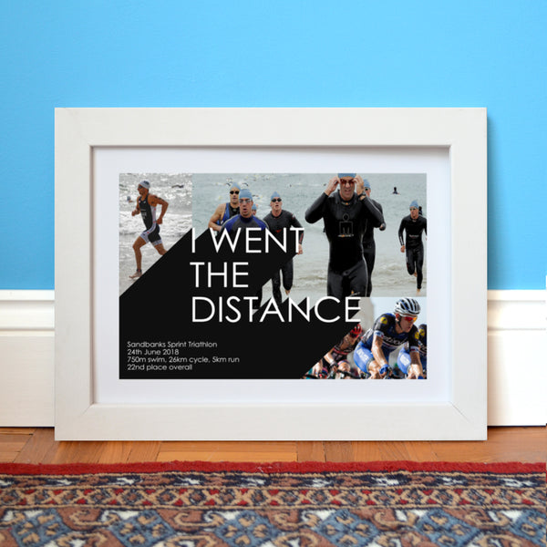 'I Went The Distance' Triathlon Photo Collage Print