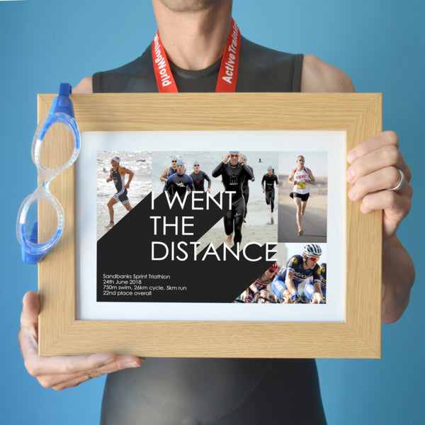 Personalised Triathlon Photo Collage Print