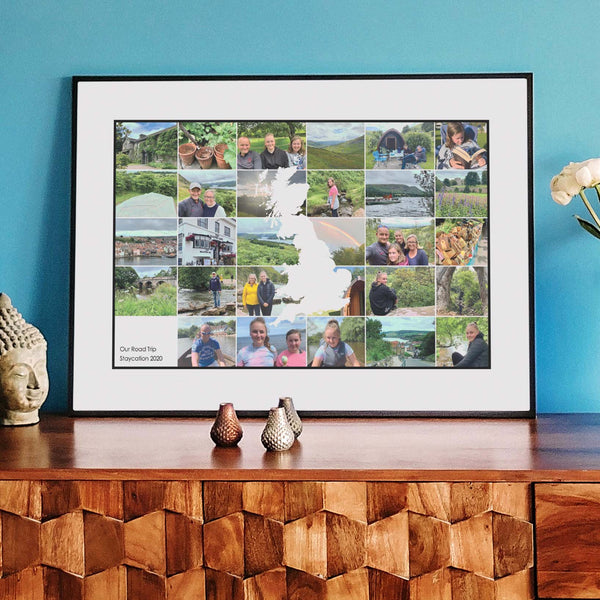 Personalised Travel Destination Photo Collage Map