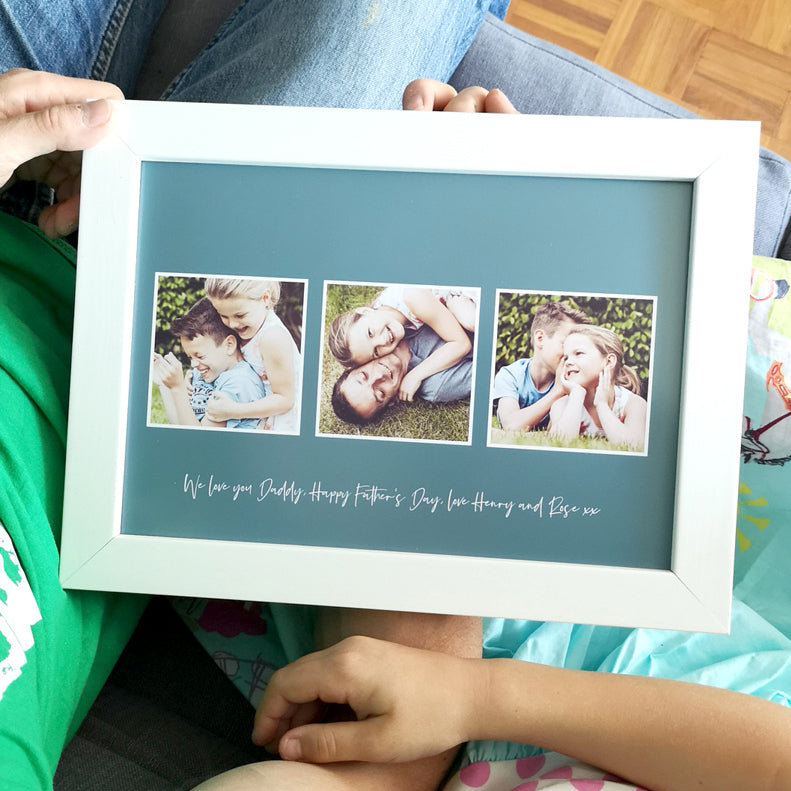 Personalised Colour Photo Memories For Him Print