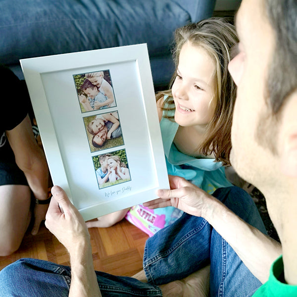 Personalised framed photo print for Daddy
