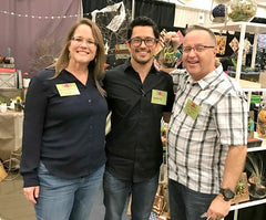 Armando Soto of Raices Roots with Cal and Renee Woodford of Olivia's Smile Decor