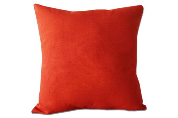 Solid Coral Pillow Cover
