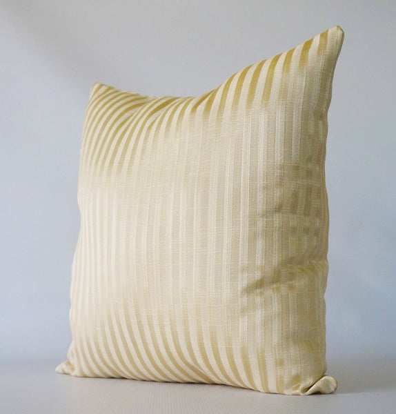 Gold Stripe Pillow Cover