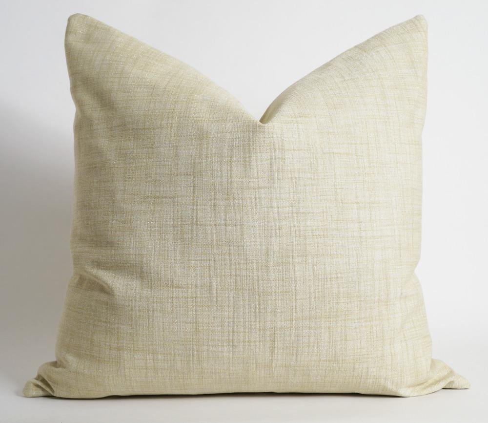 Gold linen pillow cover by Olivia