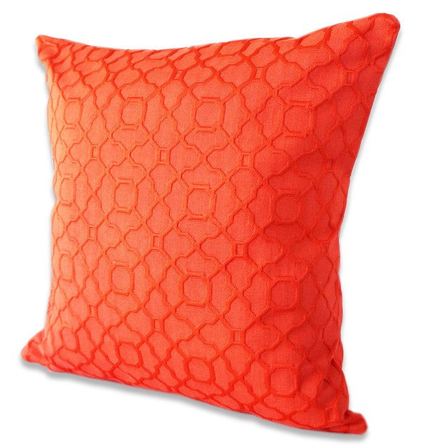red pillow cover lattice design