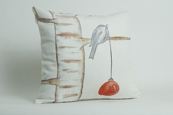 Christmas pillow cover featuring original art by Arizona artist Armando Soto