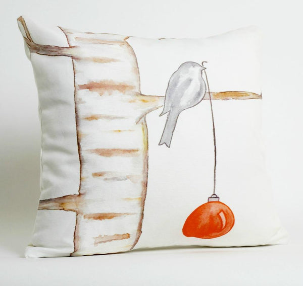 Christmas Pillow Cover Tranquility by Arizona Artist Armando Soto