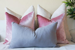 Gray and pink pillow cover collection by Olivia's Smile Decor