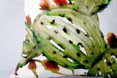 @Local Trade 16x16 Prickly Pear Cactus Art Pillow