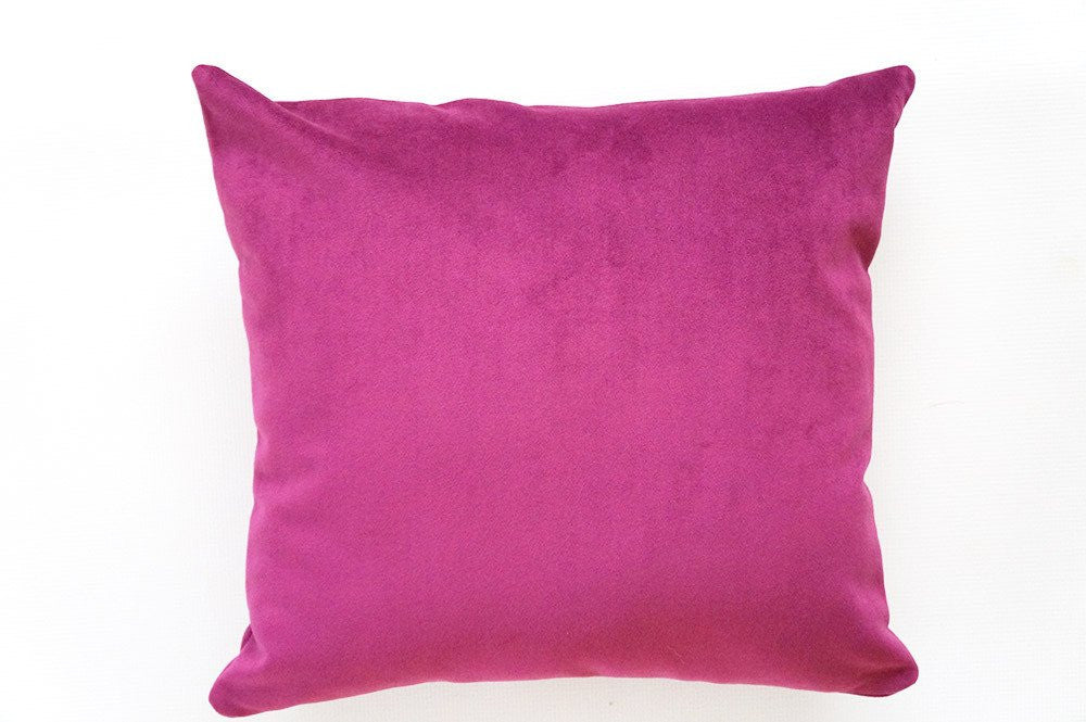 Purple Orchid Velvet Pillow Cover Front View by Olivia