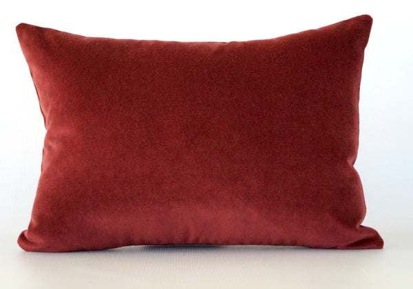 Red Velvet Lumbar Pillow Cover