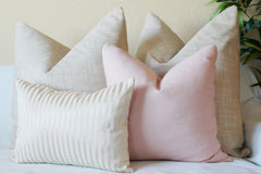 Pink and gold pillow cover collection by Olivia's Smile Decor