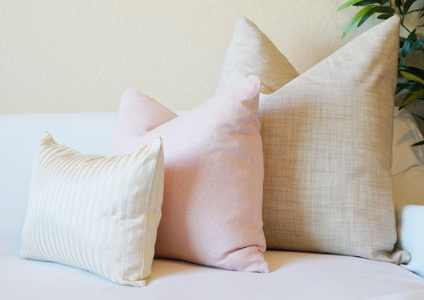 Pink and Gold Pillow Cover Set