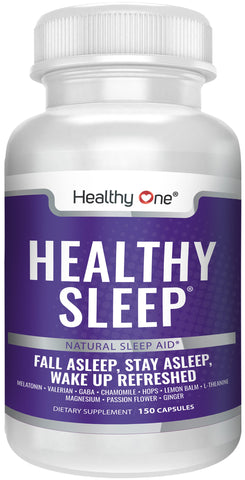Healthy Sleep - Natural Sleep Aid - Fall Asleep, Stay Asleep, Wake Up Refreshed.