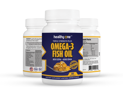 Super Omega 3 Fish Oil 800 EPA 600 DHA Triple Stength Plus