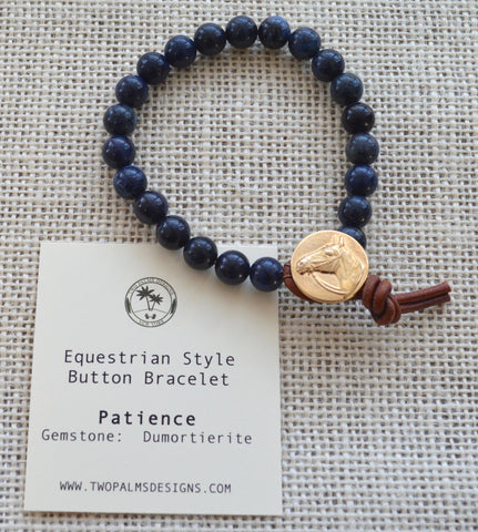 Equestrian Button Bracelet - Patience