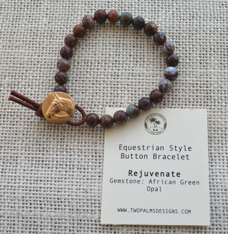 Equestrian Button Bracelet - Rejuvenate