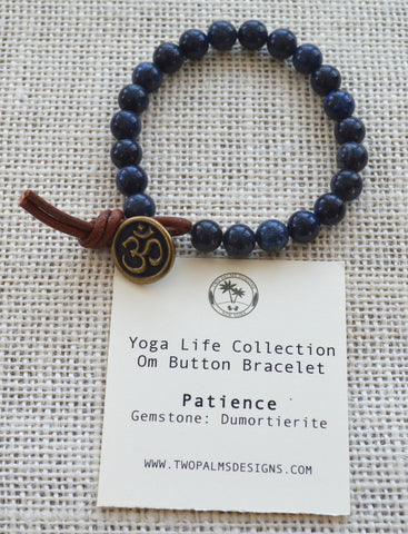 OM Button Bracelet - Patience