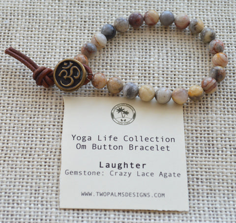 OM Button Bracelet - Laughter