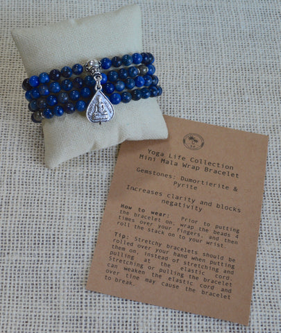 Mini Mala Wrap Bracelet - CALM & BLOCK NEGATIVITY