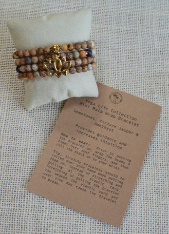 Mini Mala Wrap Bracelet - GUIDANCE & INTUITION