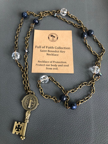 Saint Benedict Key Necklace