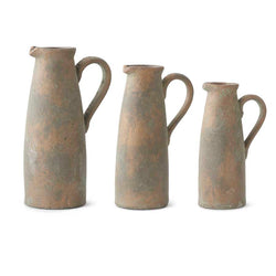 Terracotta Pitchers with Bronze Glaze