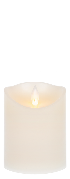 "Wax LED Pillar Candle-4"" x 3"""