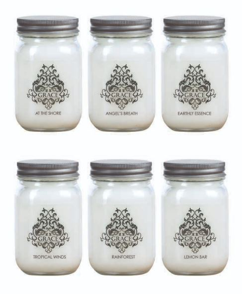 Grace Spring Scented Candles in Lidded 11 oz Jar-6 Scents sold individually