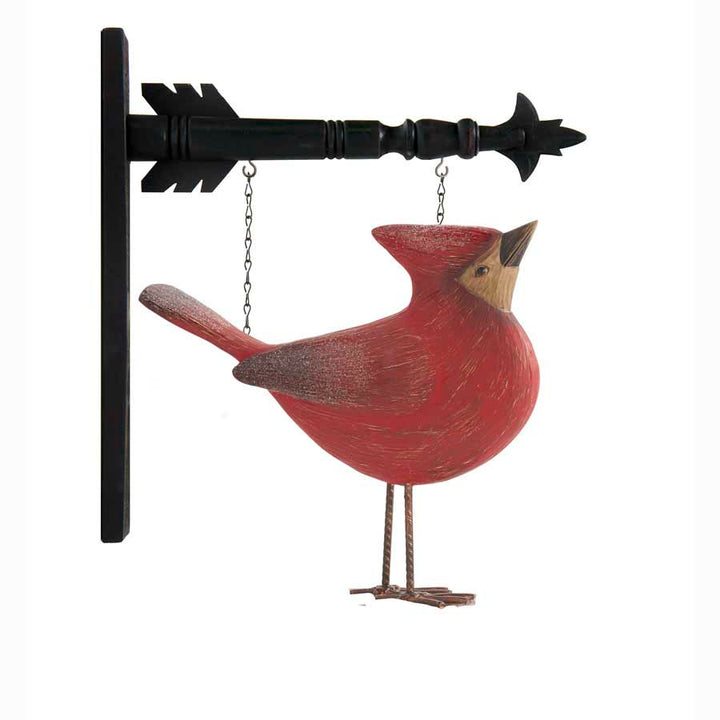9 Inch Resin Cardinal with Head Up Arrow Replacement-Hanger Sold Separately