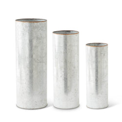 Tin Cylinder Vases- 3 sizes sold individually