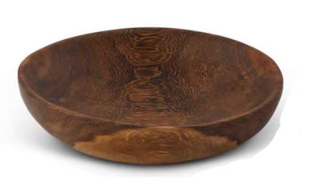 7.25 Inch Round Oak Wood Bowl