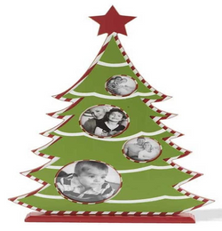 Christmas Tree Photo Frame on Base (4 Openings)