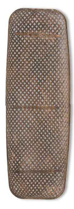 Rectangular Bamboo Basket Weave Trays-Large