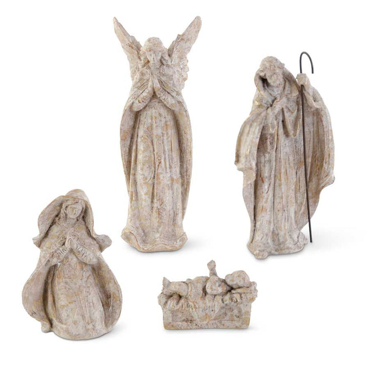 4 Piece Resin Nativity Set