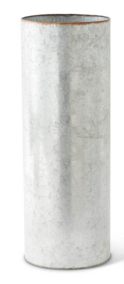 Tin Cylinder Vases- 3 sizes sold individually (Tall)